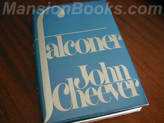 Picture of the 1977 first edition dust jacket for The Falconer.