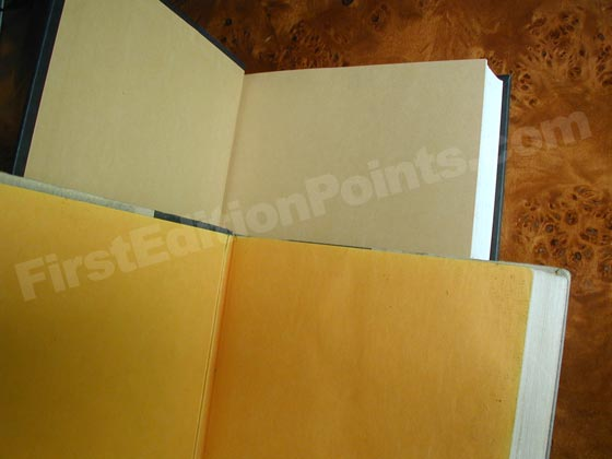 The first state of The Firm has gold endpapers that were slightly textured.  The second