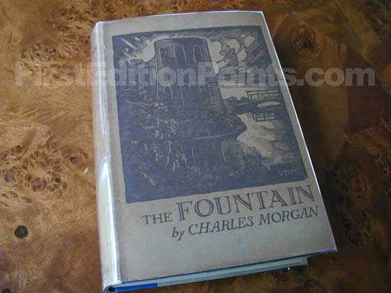 Picture of the 1932 first edition dust jacket for The Fountain.