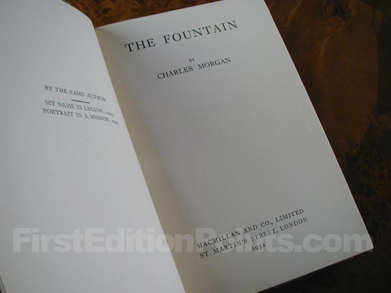 Picture of the first edition title page for The Fountain.
