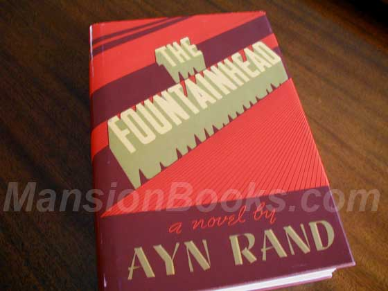 Picture of the 1943 first edition dust jacket for The Fountainhead.