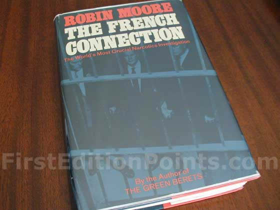 Picture of the 1969 first edition dust jacket for The French Connection.