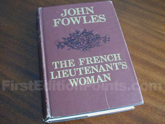 Picture of the 1969 first edition dust jacket for The French Lieutenant's Woman.