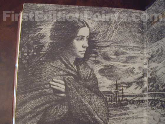 Picture of the UK endpaper featuring a drawing by Tom Adams. The same drawing was used
