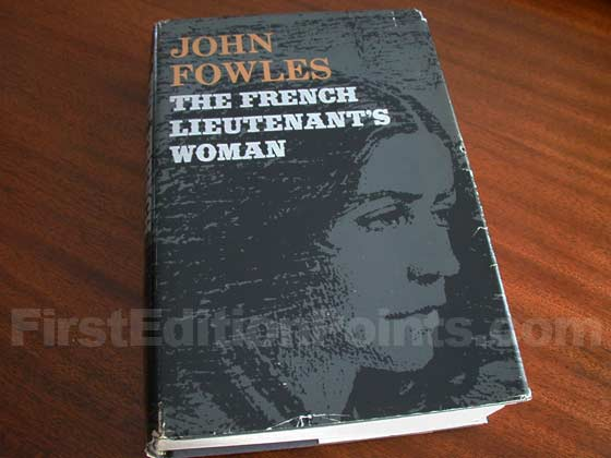 Picture of the 1969 first American edition dust jacket for The French Lieutenant's