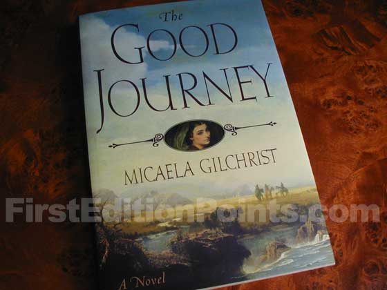 Picture of the 2001 first edition dust jacket for The Good Journey.