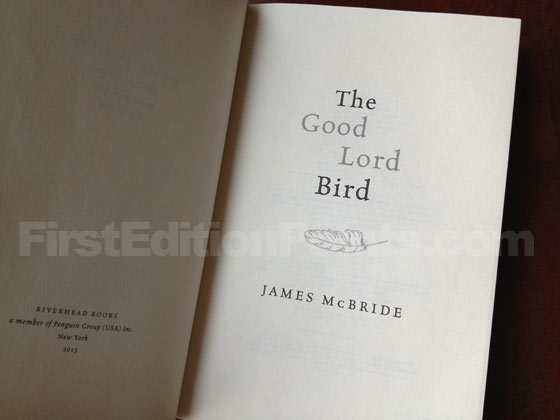Picture of the title page for The Good Lord Bird.
