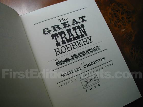 Picture of the first edition title page for The Great Train Robbery.