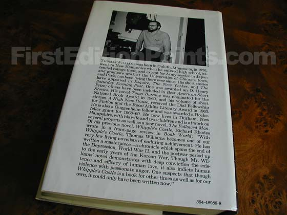 Picture of the back dust jacket for the first edition of The Hair of Harold Roux.