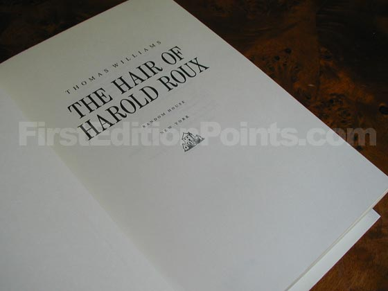 Picture of the title page for The Hair of Harold Roux.