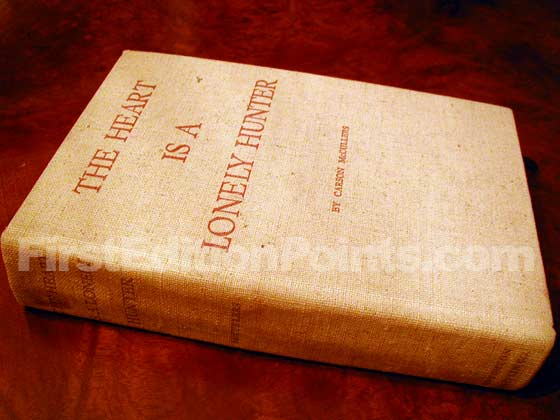 Picture of the first edition Houghton Mifflin Company boards for The Heart is a Lonely