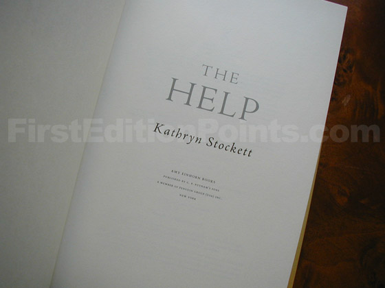 Picture of the first edition title page for The Help.