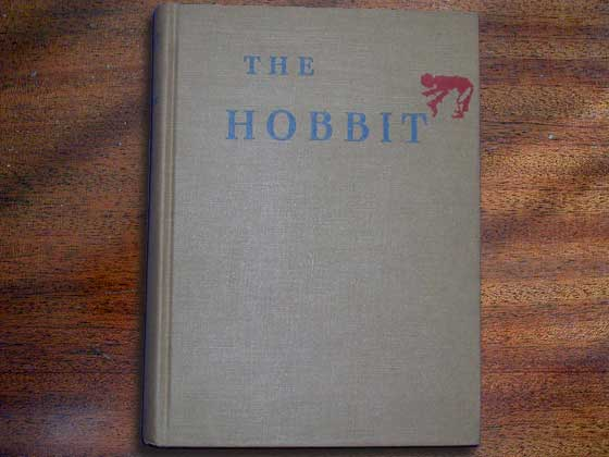 The First American Edition was published in 1938 and had a bowing hobbit on the front
