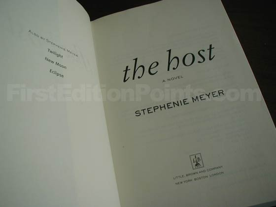 Picture of the first edition title page for The Host.