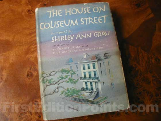 Picture of the 1961 first edition dust jacket for The House on Coliseum Street.