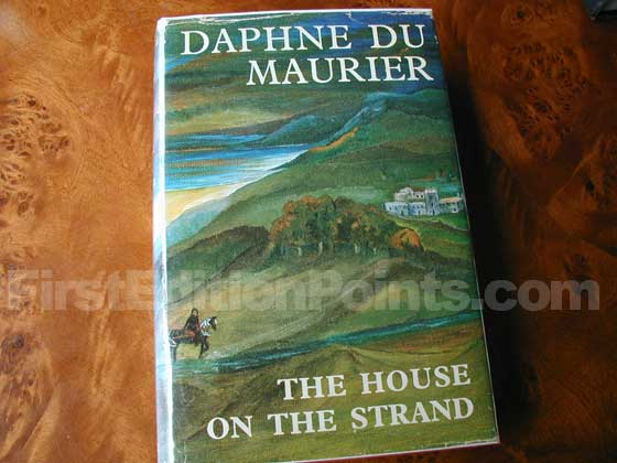 Picture of the 1969 first edition dust jacket for The House on the Strand.