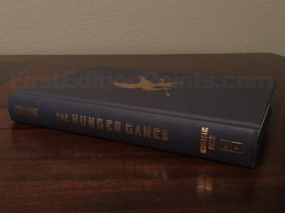 Picture of the first edition Scholastic Press boards for The Hunger Games.