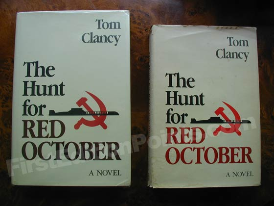The true first edition of The Hunt for Red October is 9.25 inches tall, while the book