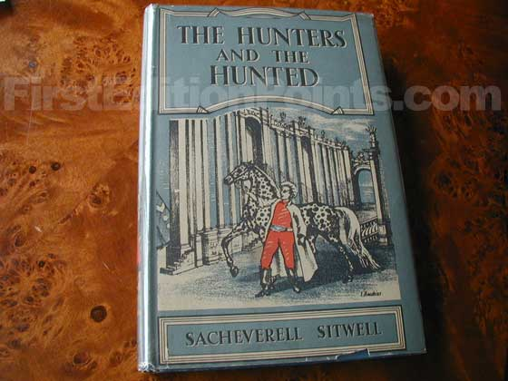 Picture of the 1948 first edition dust jacket for The Hunters and the Hunted (U.S.).