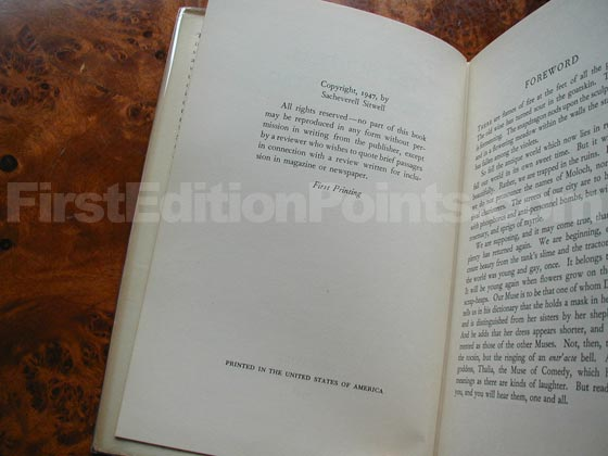 Picture of the first edition copyright page for The Hunters and the Hunted (U.S.).