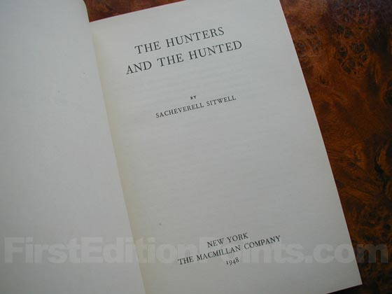Picture of the first edition title page for The Hunters and the Hunted (U.S.).