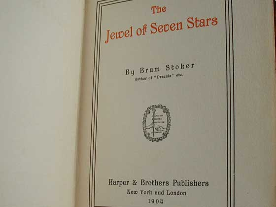 This is the title page from the first American edition.