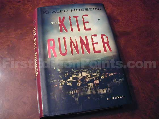 Picture of the 2003 first edition dust jacket for The Kite Runner.