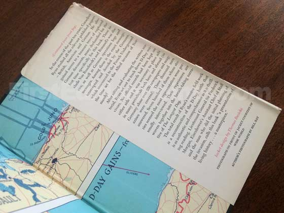 Picture of the back dust jacket flap for the first edition of The Longest Day.