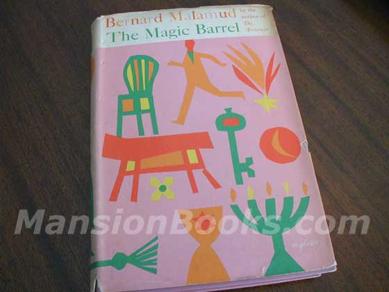Picture of the 1958 first edition dust jacket for The Magic Barrel.