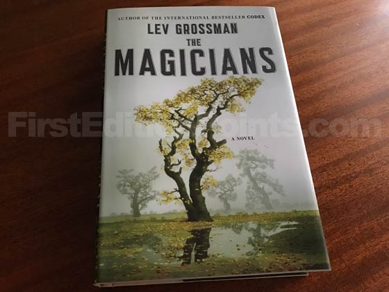 Picture of the 2009 first edition dust jacket for The Magicians.