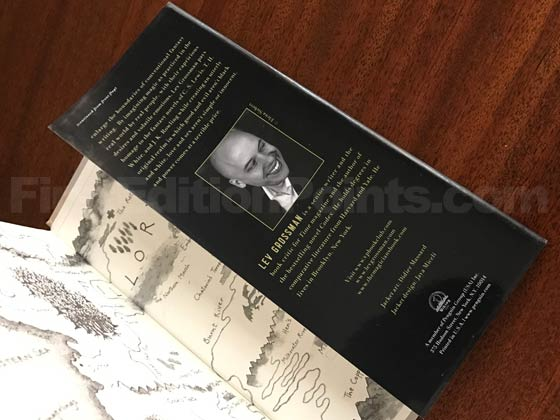 Picture of the back dust jacket flap for the first edition of The Magicians.