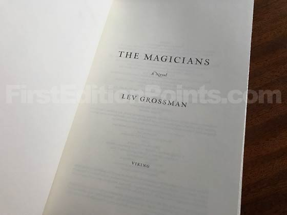 Picture of the first edition title page for The Magicians.