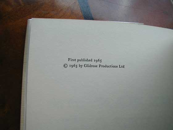 Picture of the first edition copyright page for The Man with the Golden Gun.