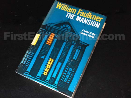Picture of the 1959 first edition dust jacket for The Mansion. Photo courtesy of Bryan