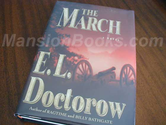 Picture of the 2005 first edition dust jacket for The March.