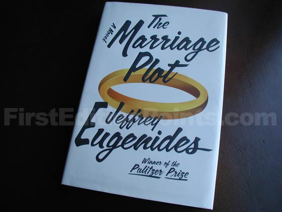 Picture of the 2011 first edition dust jacket for The Marriage Plot.