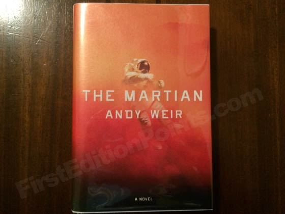 Picture of the 2014 first edition dust jacket for The Martian.