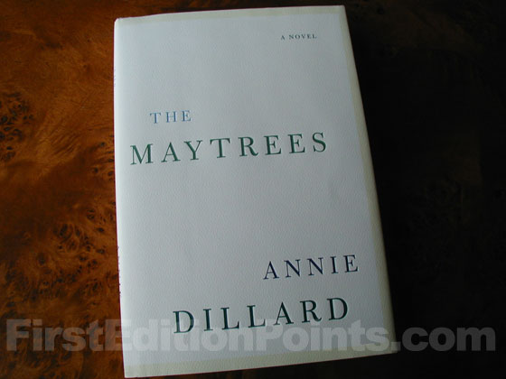 Picture of the 2007 first edition dust jacket for The Maytrees.