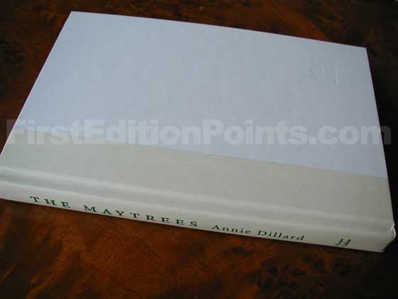 Picture of the first edition Harper Collins boards for The Maytrees.