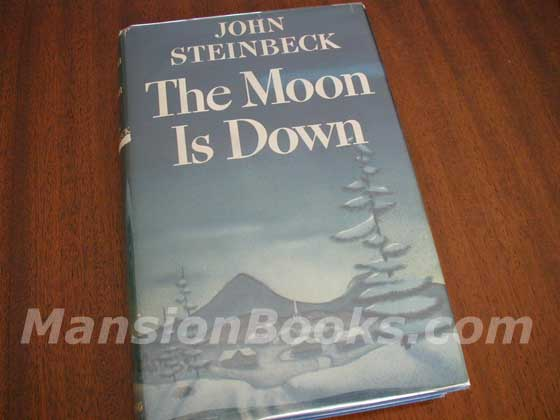 Picture of the 1942 first edition dust jacket for The Moon is Down.