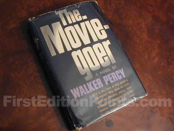 Picture of the 1961 first edition dust jacket for The Moviegoer.