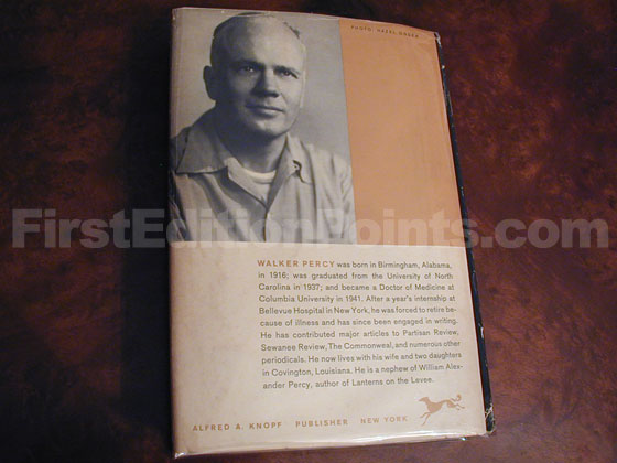 Picture of the back dust jacket for the first edition of The Moviegoer.