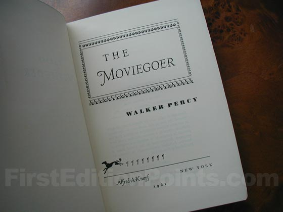 Picture of the title page for The Moviegoer.