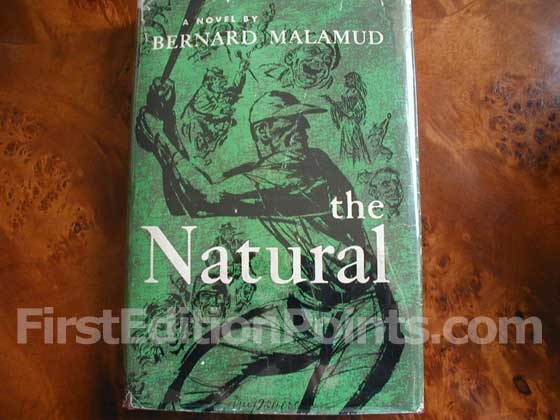 Picture of the 1952 first edition dust jacket for The Natural.