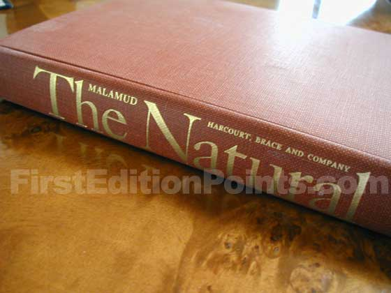 Picture of the first edition Harcourt, Brace and Company boards for The Natural.