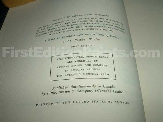 Picture of the first edition copyright page for The New Centurions.