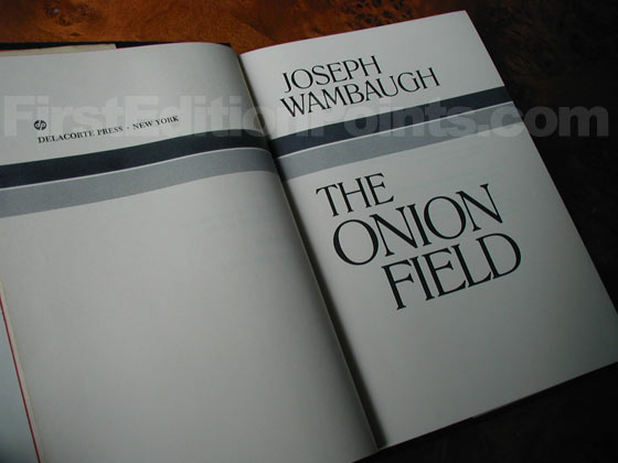 Picture of the first edition title page for The Onion Field.
