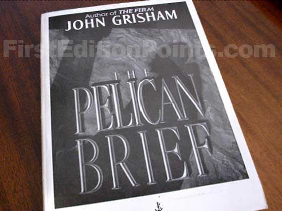 This soft cover bound galley of The Pelican Brief was signed by John Grisham and limited