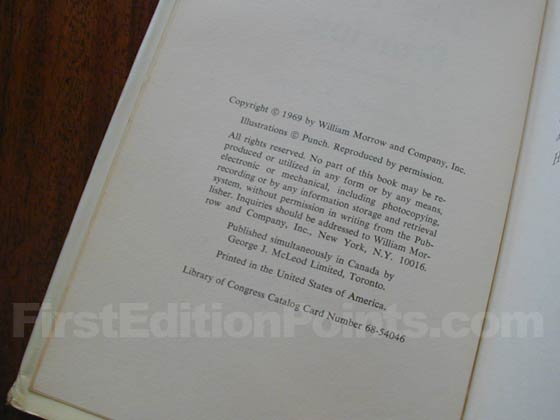 Picture of the first edition copyright page for The Peter Principle.
