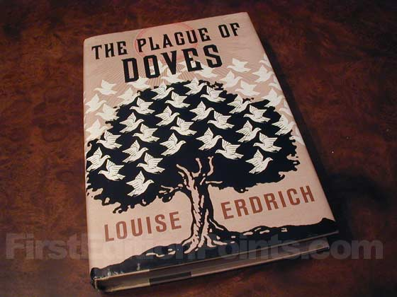 Picture of the 2008 first edition dust jacket for The Plague of Doves.